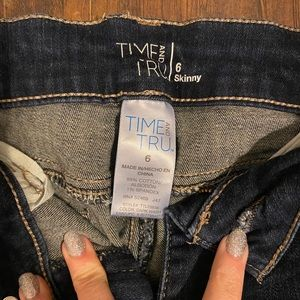 Time and Tru High Waisted Ankle Jean